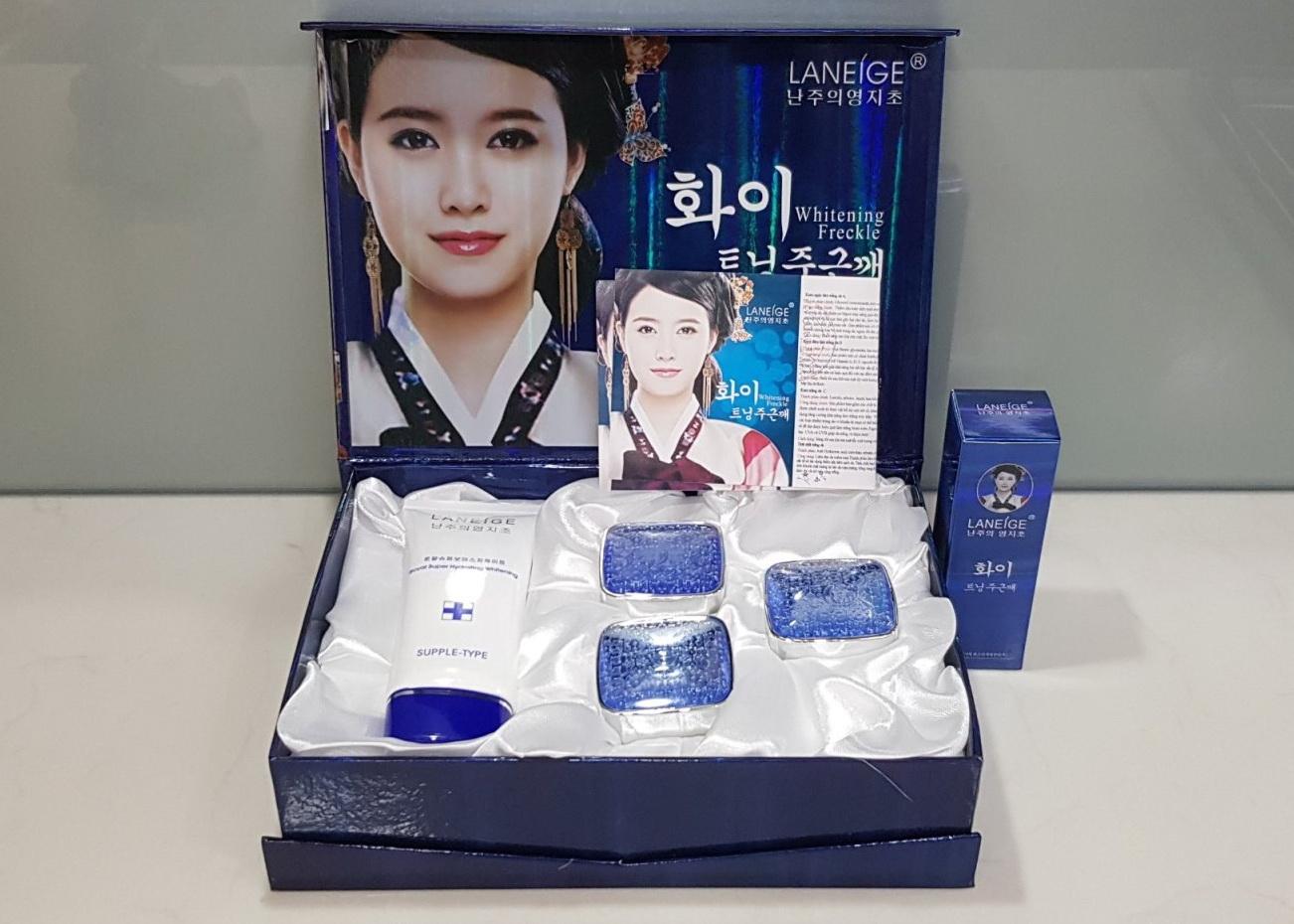 Laneige Xanh (5in1), Bộ mỹ phẩm trắng da, trị nám cao cấp
