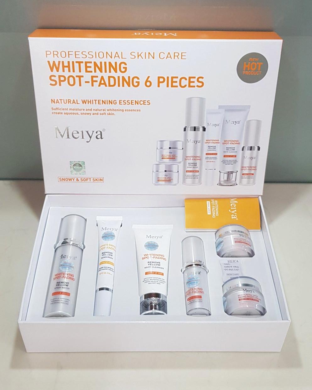 Bộ mỹ phẩm Meiya Cam cao cấp 6in1 Nhật Bản mới trị nám tàn nhang kết hợp làm trắng da