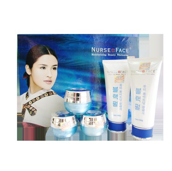 Nurse Face Ngọc Trai (5in1), Bộ mỹ phẩm trắng da, trị nám, tàn nhang