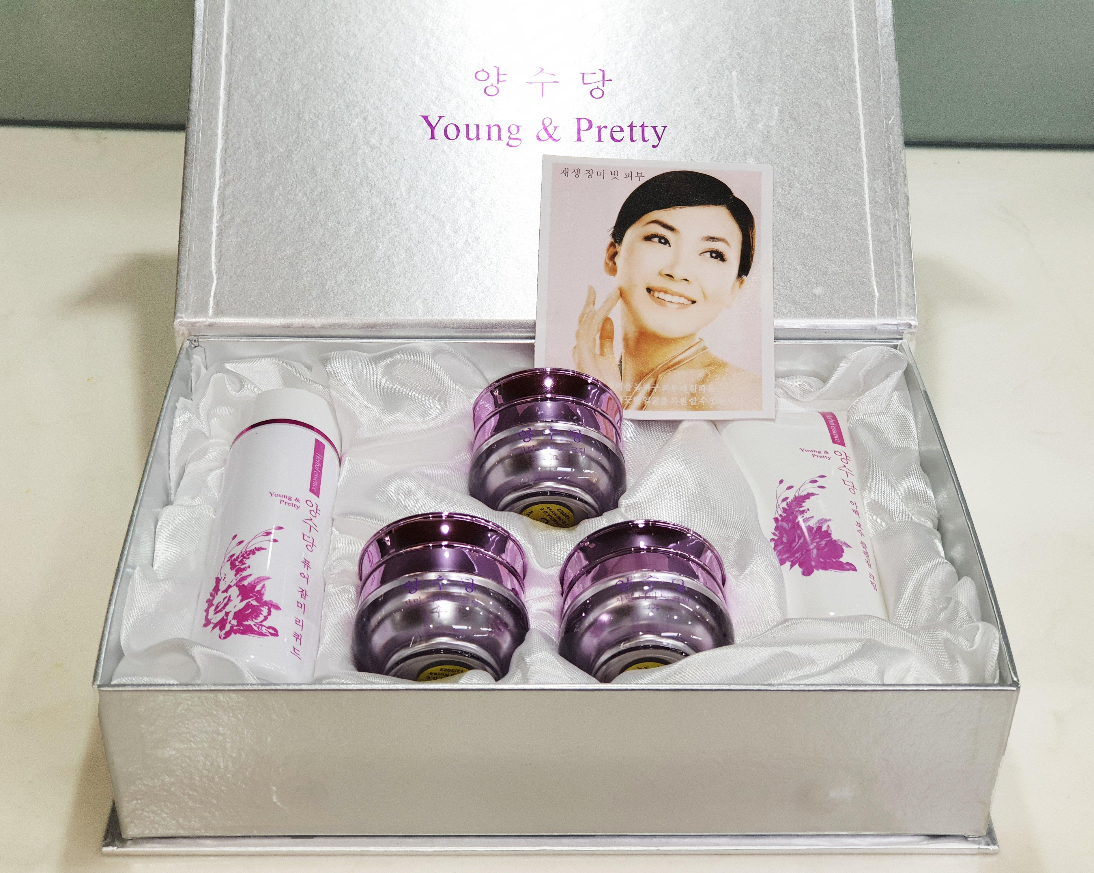Young Pretty 5in1, Bộ mỹ phẩm trị nám tàn nhang làm trắng da Hàn Quốc, mỹ phẩm young pretty