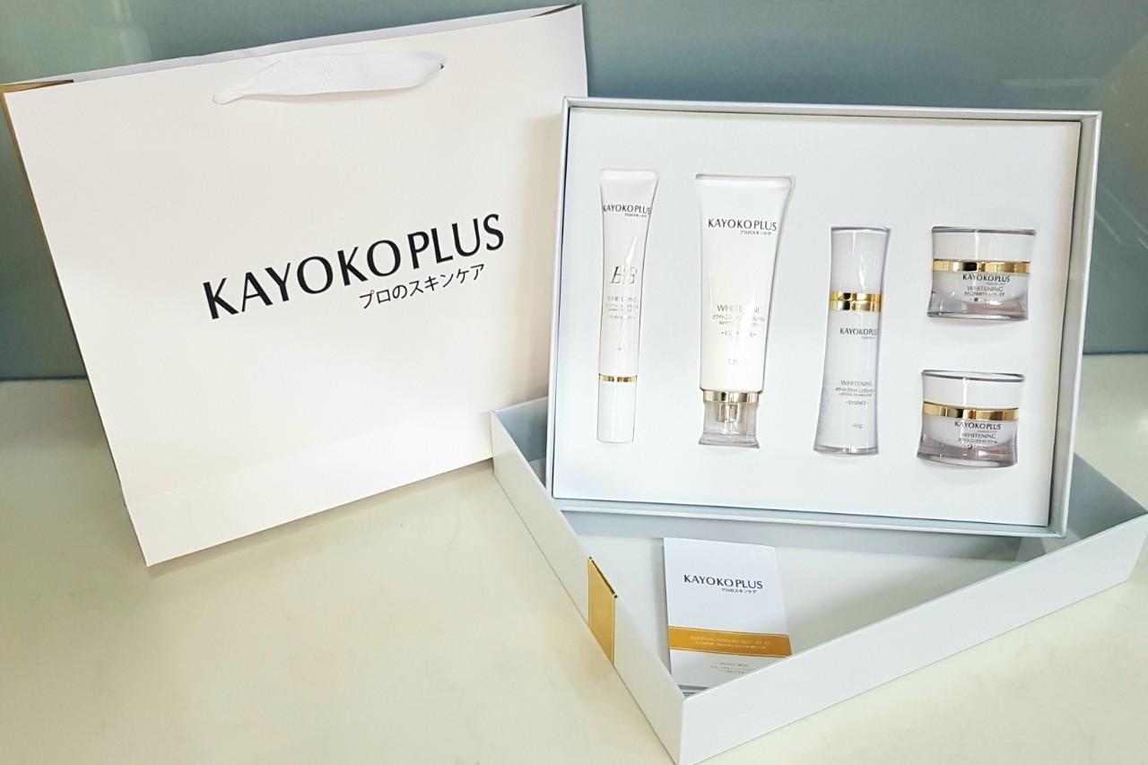Bộ mỹ phẩm Kayoko Plus 5in1 trị nám tàn nhang làm trắng da, dưỡng trắng da chính hãng Nhật Bản