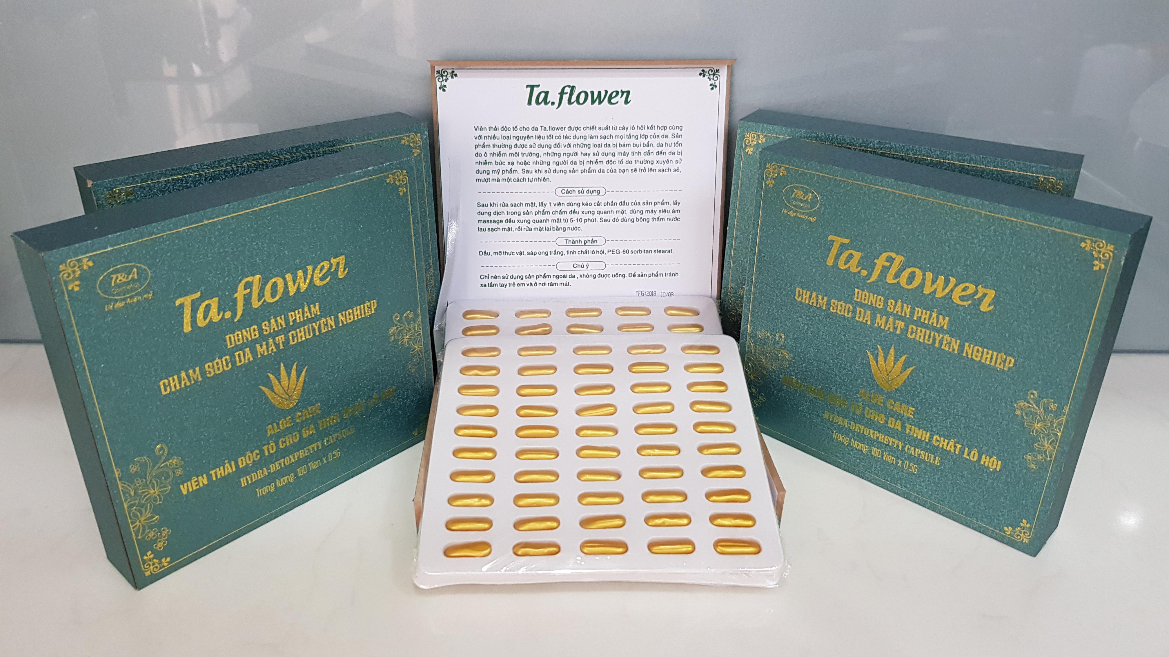 Viên thải độc tố cho da tinh chất lô hội Ta.flower