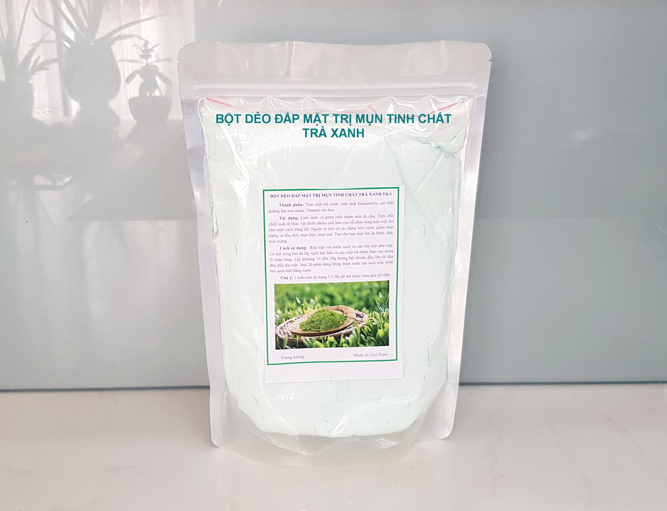 Bột dẻo đắp mặt trị mụn tinh chất trà xanh T&A