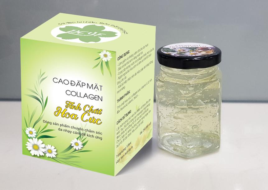 Cao đắp mặt collagen tinh chất Hoa Cúc, chuyên chăm sóc da nhạy cảm dễ kích ứng
