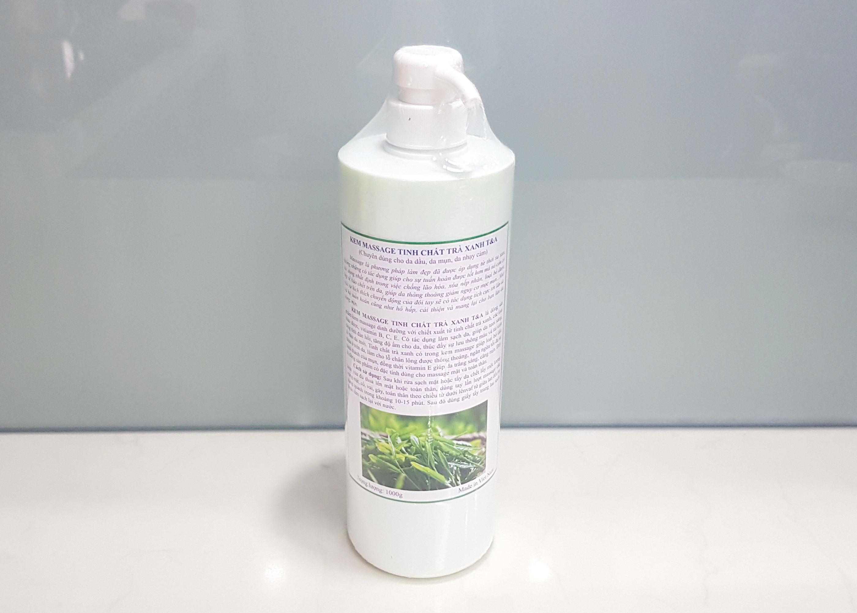 Kem massage tinh chất trà xanh, dùng cho da dầu, da mụn, da nhạy cảm